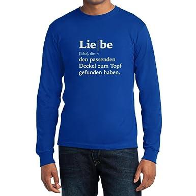 Liebe Definition   Valentinstag Jubiläum Geschenk Langarm T Shirt Small Blau