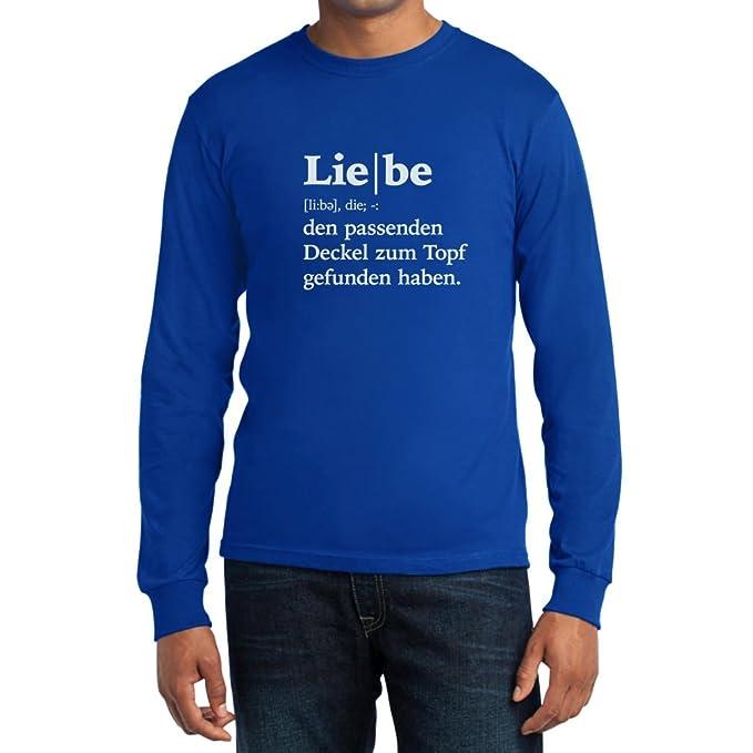 Liebe Definition   Valentinstag Jubiläum Geschenk Langarm T Shirt:  Amazon.de: Bekleidung