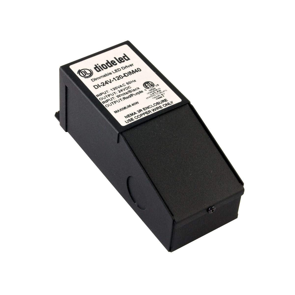 Diode LED 24V 40W Magnetic Dimmable Driver 277V Input Class 2