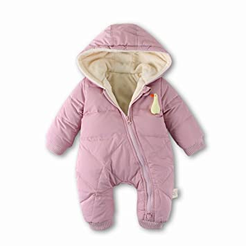 953b88e7b Amazon.com  Baby Boy Girl Duck Down Hooded Unisex Puffer Jacket ...