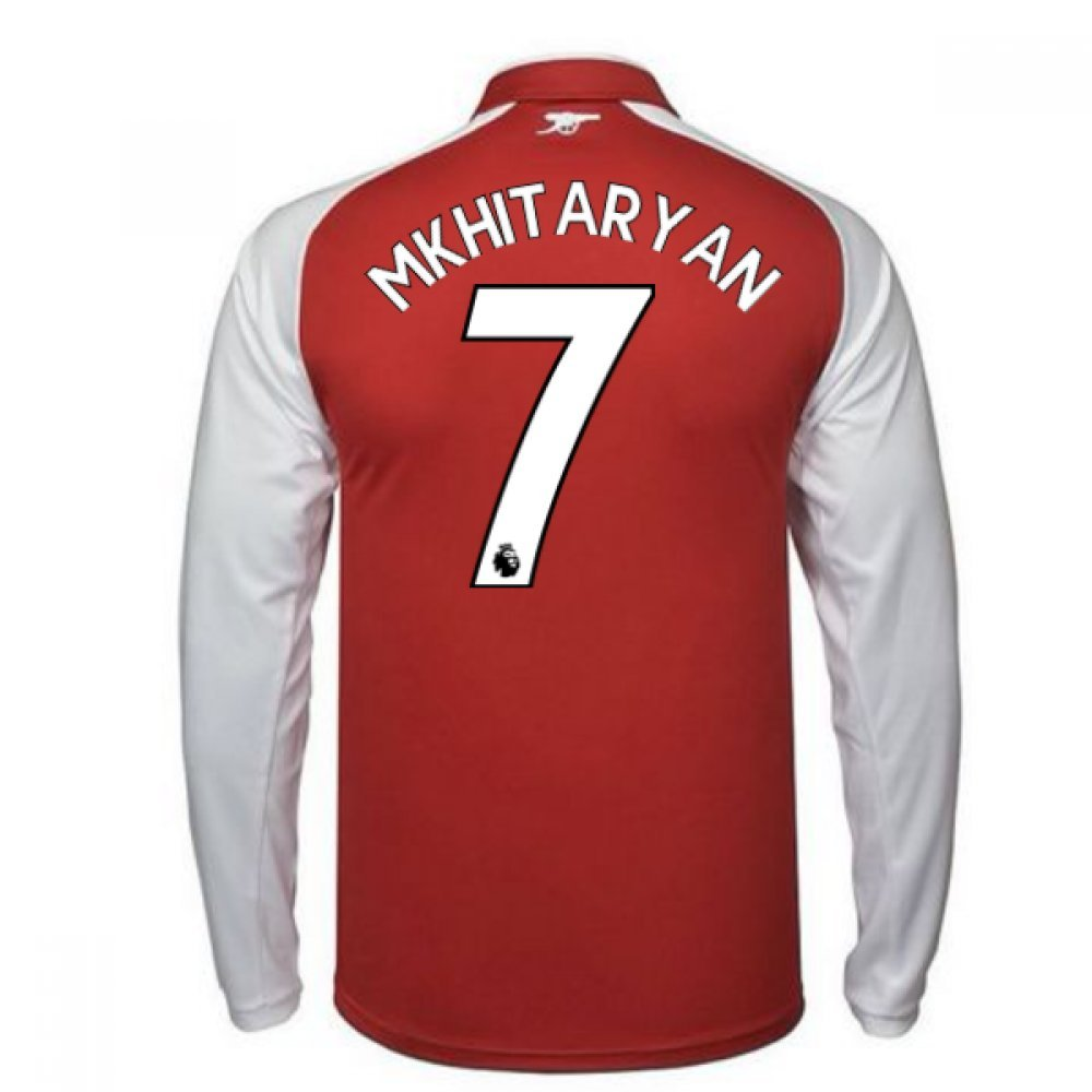 2017-18 Arsenal Home Long Sleeve Shirt (Mkhitaryan 7) B079NQ94KKRed XXXL Adults