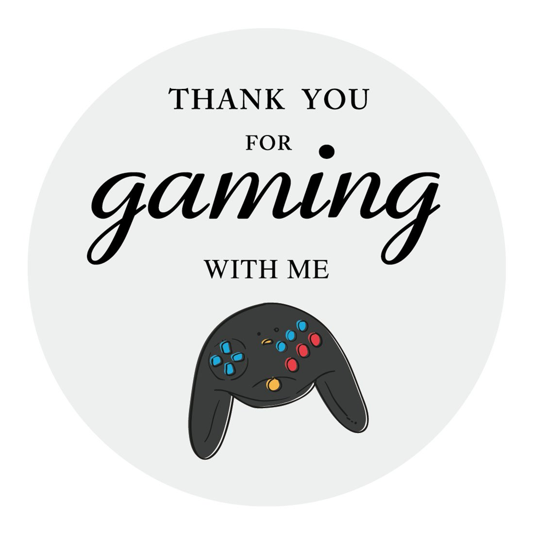 Amazon Com Magjuche Video Game Thank You Stickers Game Over