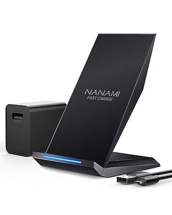 Amazon.com: Cargador inalámbrico rápido, NANAMI Qi ...