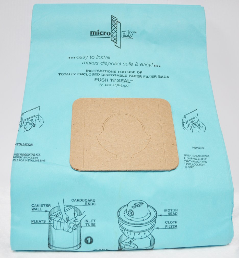 Oreck Commercial Canister Vacuum Cleaner Bags PT10, PT-57