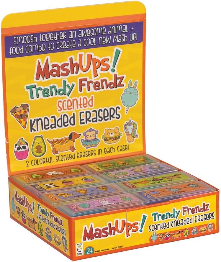 MASHUPS TRENDY FRENDZ KNEADED ERASERS 24//DISPLAY