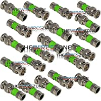 BNC Compression Type 75 Ohm Coaxial Coax RG59 CCTV Connector (20/pack)