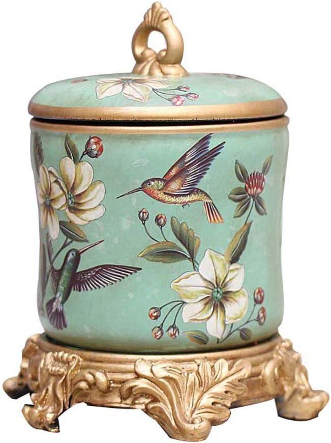 LINGS Urnas funerarias de cerámica para Cenizas humanas o Cenizas de Mascotas, urna funeraria Conmemorativa, patrón de pájaros, decoración del hogar