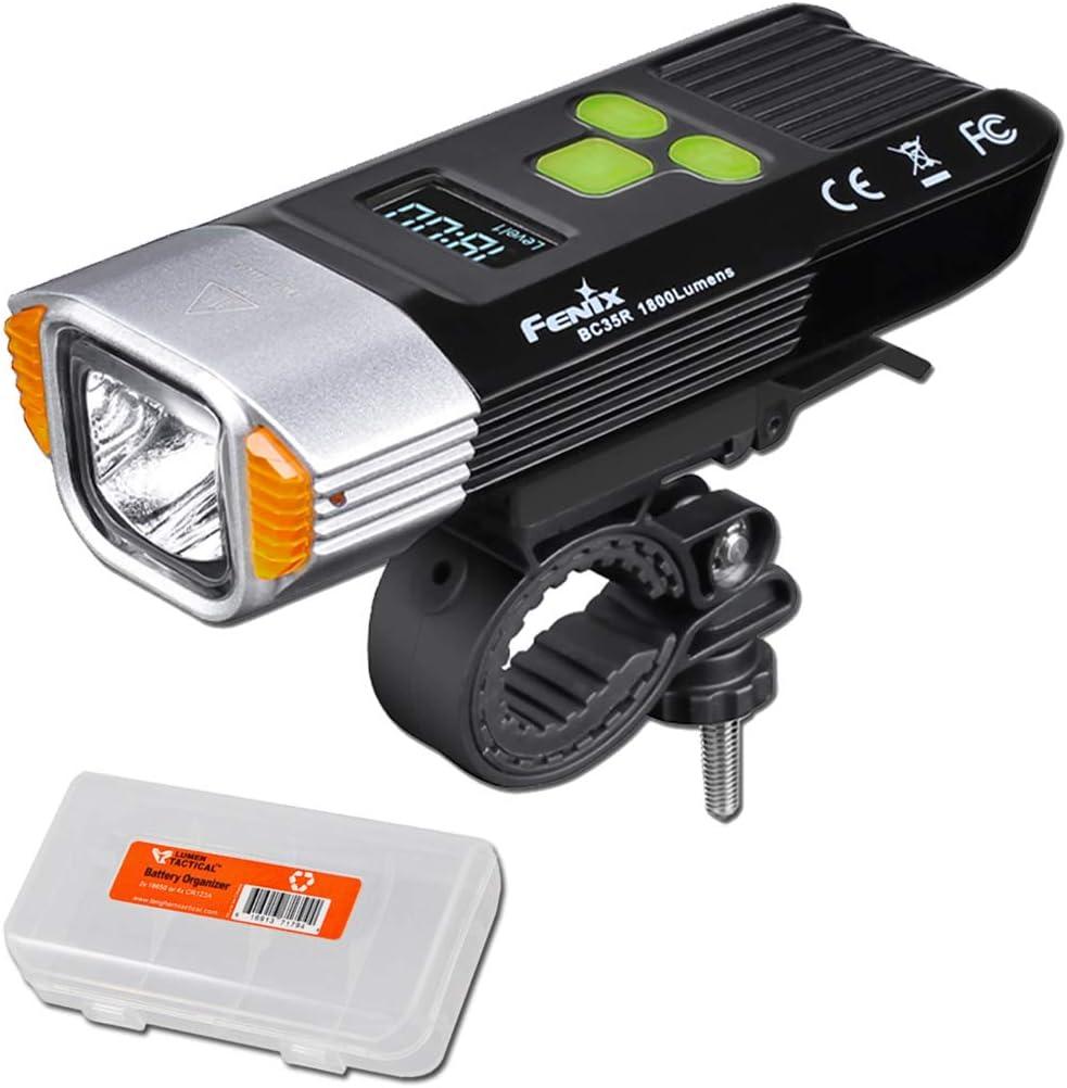 Fenix BC30R 2017 Cree Neutral White LEDS USB Rechargeable Bike Headlight+Battery