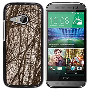 PC/Aluminum Funda Carcasa protectora para HTC ONE MINI 2 / M8 MINI Forest Tree Branches Autumn / JUSTGO PHONE PROTECTOR