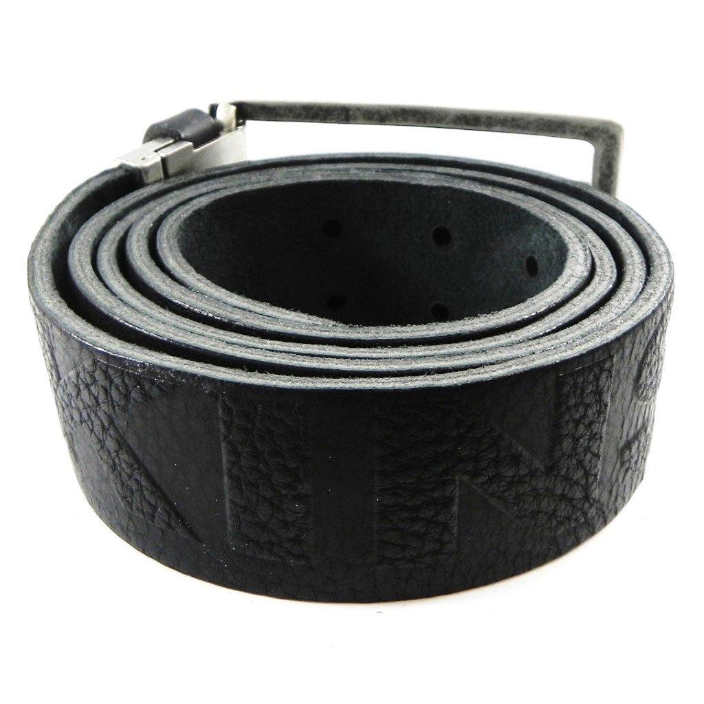 Leather belt Redskins black vintage.