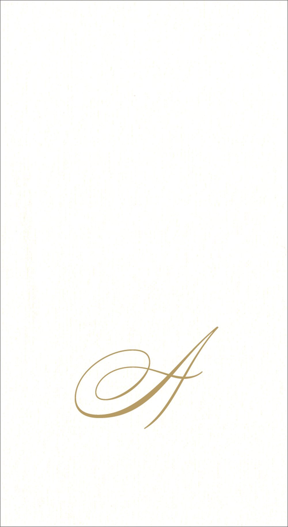 Entertaining with Caspari White Pearl Paper Linen Guest Towels, Monogram Initial A, Pack of 24