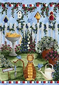 """Toland Home Garden 112665 Cats 12.5 X 18"""" Decorative USA-Produced Garden Flag"""