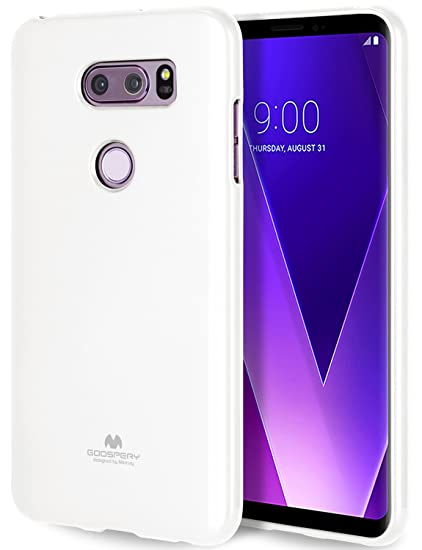 online store 56c46 64747 GOOSPERY Marlang Marlang LG V30 Case - White, Free Screen Protector [Slim  Fit] TPU Case [Flexible] Pearl Jelly [Protection] Bumper Cover for LG V30,  ...