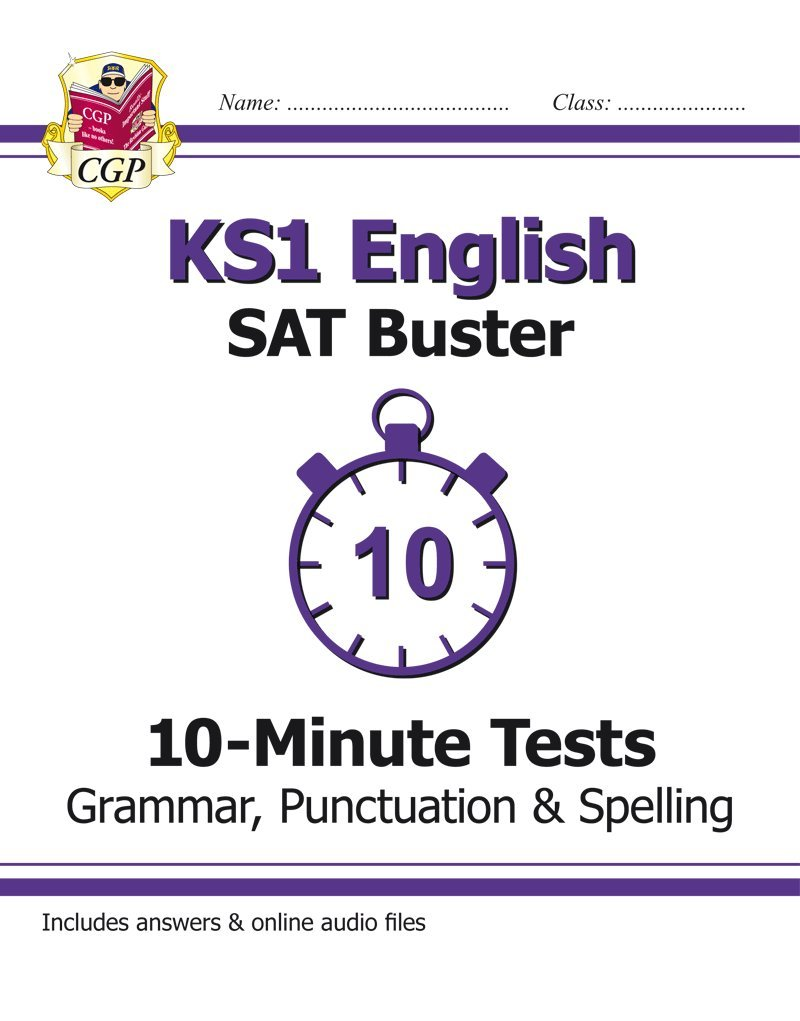 New ks1 english sat buster 10 minute tests grammar punctuation spelling for the 2018 tests amazon co uk cgp books 9781782947066 books