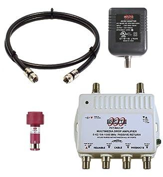 PCT bidireccional de 4 puertos TV por cable, OTA, satélite HDTV divisor de amplificador