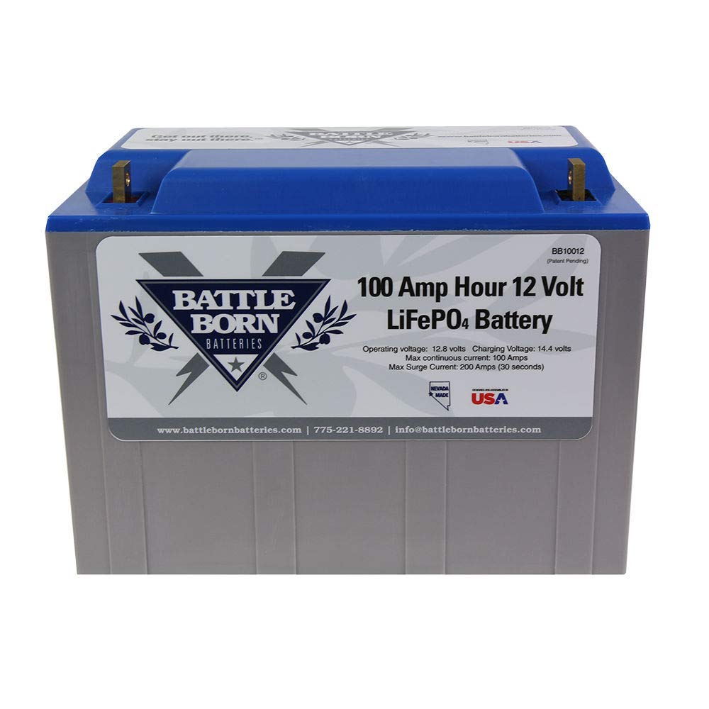 Battle Born Batteries BB10012 100Ah 12V LiFePO4 Lithium Deep Cycle Battery Bundle with Victron IP65 15A Bluetooth Charger by Battle Born Batteries (Image #2)