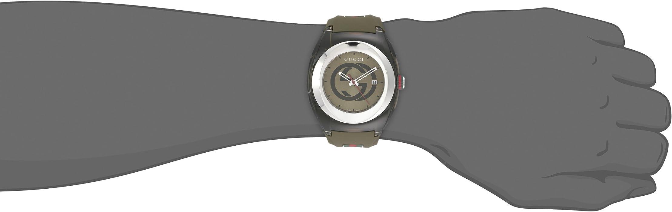 d0a96c0468c Amazon.com  Gucci SYNC XXL Khaki Watch(Model YA137106)  Watches