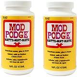 Mod Podge Waterbase zKPbO Sealer, Glue and Finish, CS11302 Matte Finish, 16 Ounce (2 Pack)