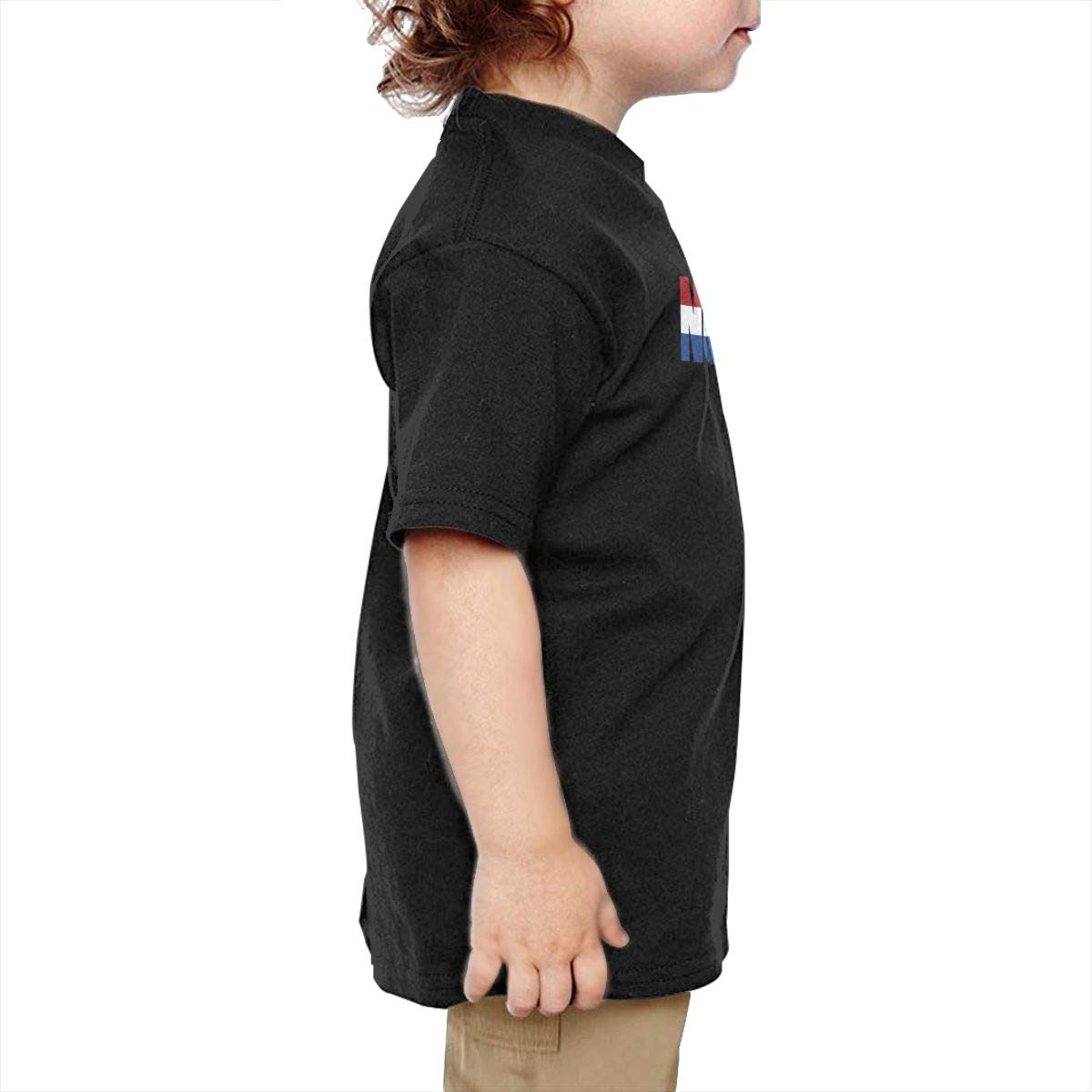 Chunmmmmm Netherlands Baby Kids Short Sleeve Round Neck Cotton Tee
