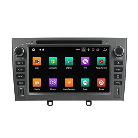 Kunfine Android 8.0 Octa Core Car DVD GPS Navigation Multimedia Player Car Stereo for Peugeot PG 408 2007 2008 2009 2010 Autoradio Volante Control with 3G ...