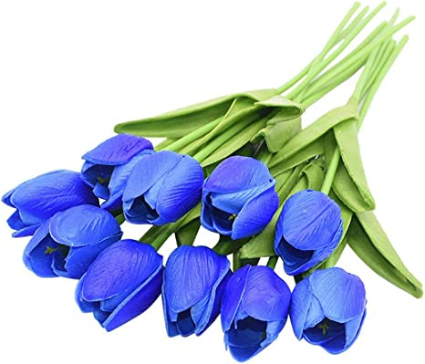 10PCS Tulip Artificial Flower Bouquet Real Touch Fake Flower Gift Flora Decorati