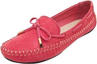 Chaussures ADESHOP Mode Chaussures Plates NœUd Papillon Mode FéMinine Couleur Unie Chaussures Simples Femme Chaussures De Pois AntidéRapantes Sauvages Confortable Un Pied Chaussures Paresseux