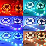 LightInTheBox 20M(45M) 5050 RGB 600 LEDs Flexible Strip Lights Not Waterproof DC 12V 600LEDs with 44Key IR Remote Controller Kit