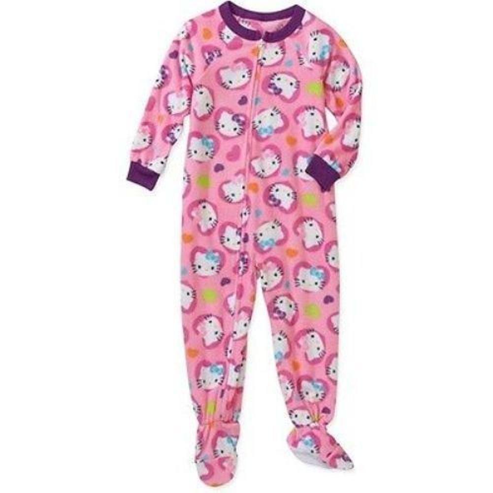 Hello Kitty Little Girl Footed Blanket Sleeper Pajama Size 24 M