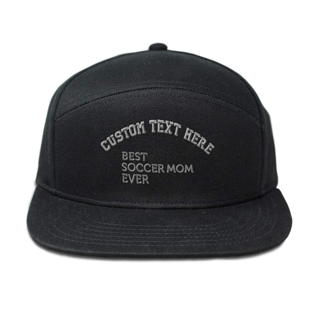 Custom Snapback Hats for Men /& Women Best Soccer MOM Ever Embroidery Cotton
