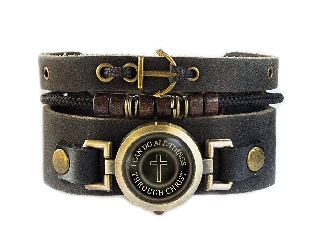 ee4f9c863be Amazon.com  Lost Tribe Designs Christian Bracelet with Cross and Anchor   Jewelry