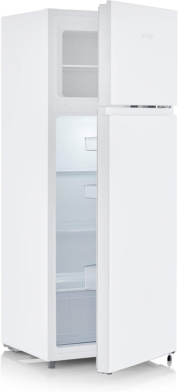 SEVERIN R/éfrig/érateur cong/élateur 2 portes DT 8760 classe A++ pose libre largeur 55cm 205 litres Veggibox incluse