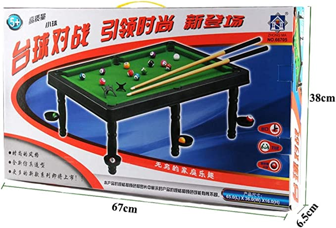 Billares Petite – el clásico juego de mesa de billar con 6 stands ...
