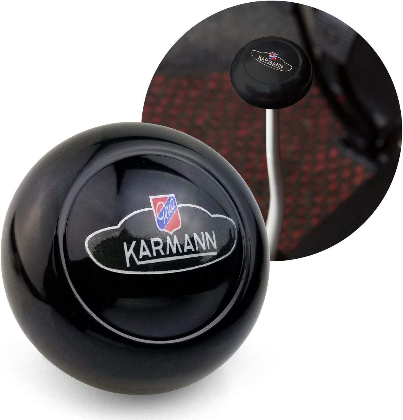 Kaferlab ZA788320 Karmann GHIA Crest Black Gear Shift Knob M10 for Volkswagen Sedan /& Vert