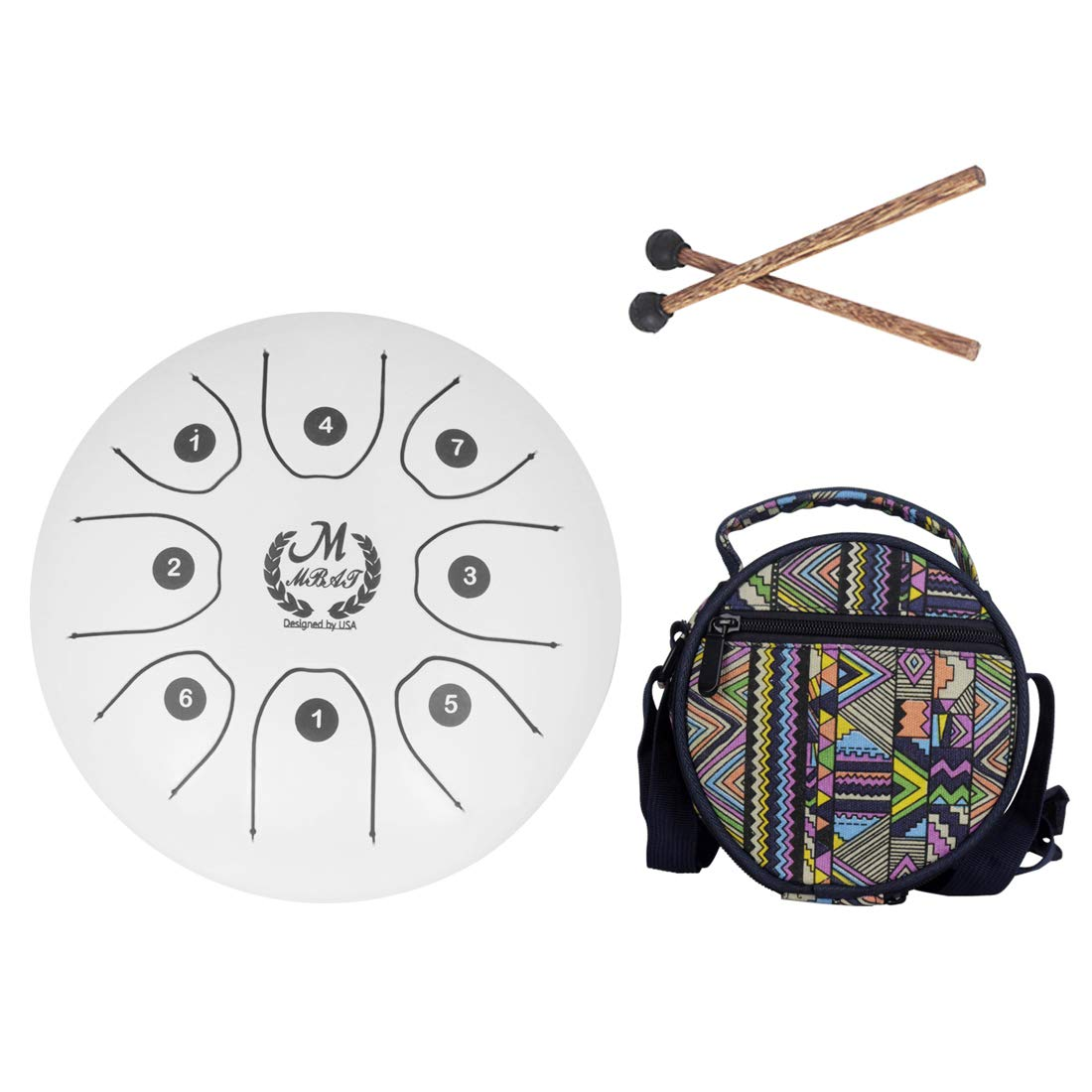 Huilier 5.5 Inch C Key Tongue Drum Mini 8-Tone Steel Portable Hand Pan Drum Percussion Instrument