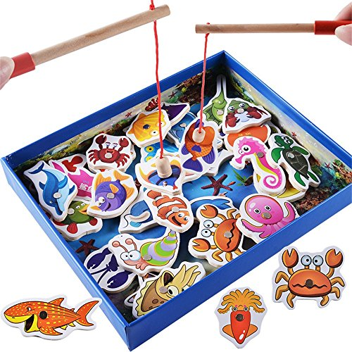 Zhisheng You Wooden Fishes Educational Development Wooden Magnetic Bath Fishing