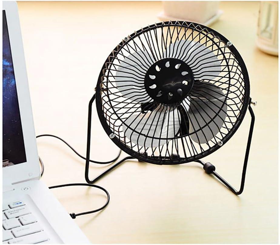Table fan Ventilatore da Tavolo Ventilatore JF in Alluminio Interfaccia USB Office Classroom Mobile Grande Vento 200mm * 180mm (Colore : A) D
