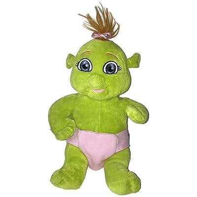 """2007 Shrek the Third Build a Bear Baby Girl Ogre in Diaper 11"""" Plush"""