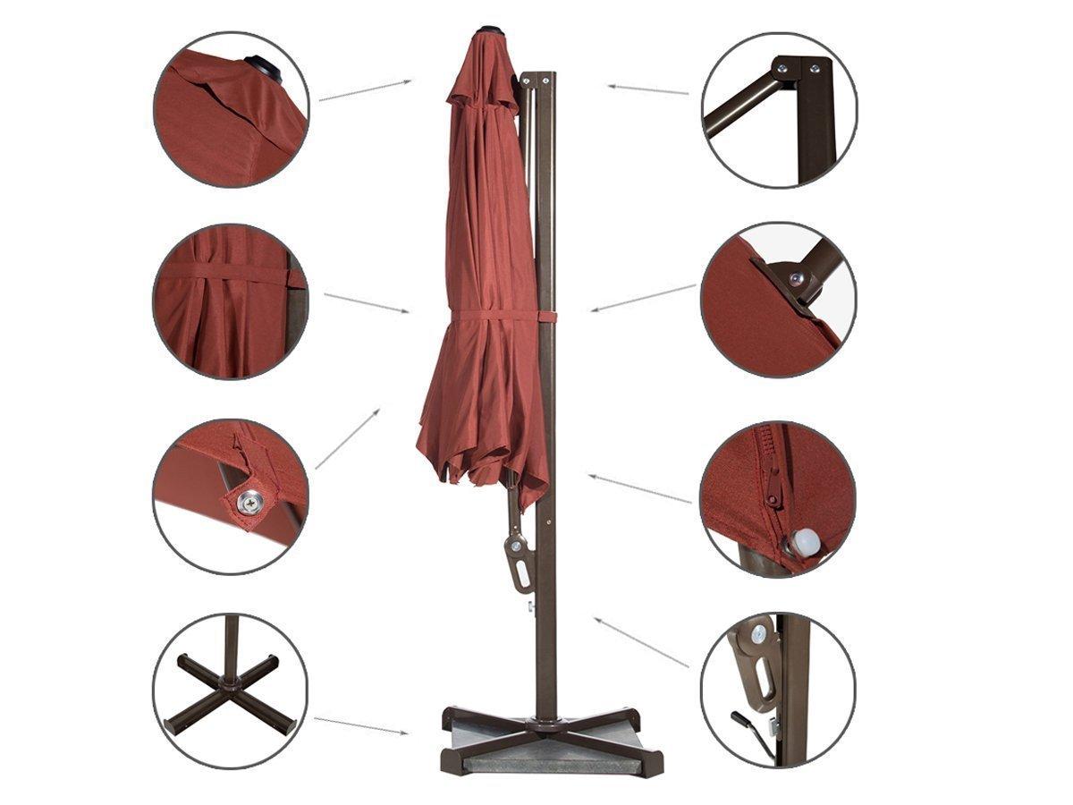 11 Ft Octagon Cantilever Offset Patio Umbrella W Cross