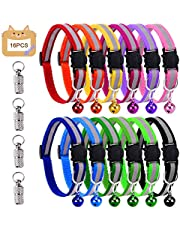 Grebarley Cat Collar,Cat Collars, Cat Collars with Bells,Reflective Adjustable Fluorescently, Quick Release Buckle, Suitable for Most Domestic Cats