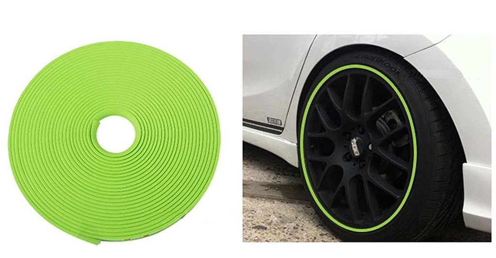 Ridar Car Wheel Rim Decorative Sticker Moulding Green For Chevrolet