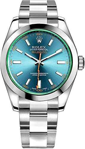 Amazon.com Rolex Milgauss 116400GV Z,Blue dial Stainless