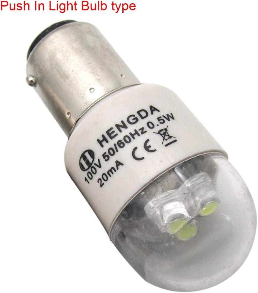 CKPSMS brand BA15D 110V LED Light Bulb fit for Singer 15-9900 Kenmore 117 158 385 Series Pfaff 130-7570 Bernina 530-1015 Sewing Machine 10