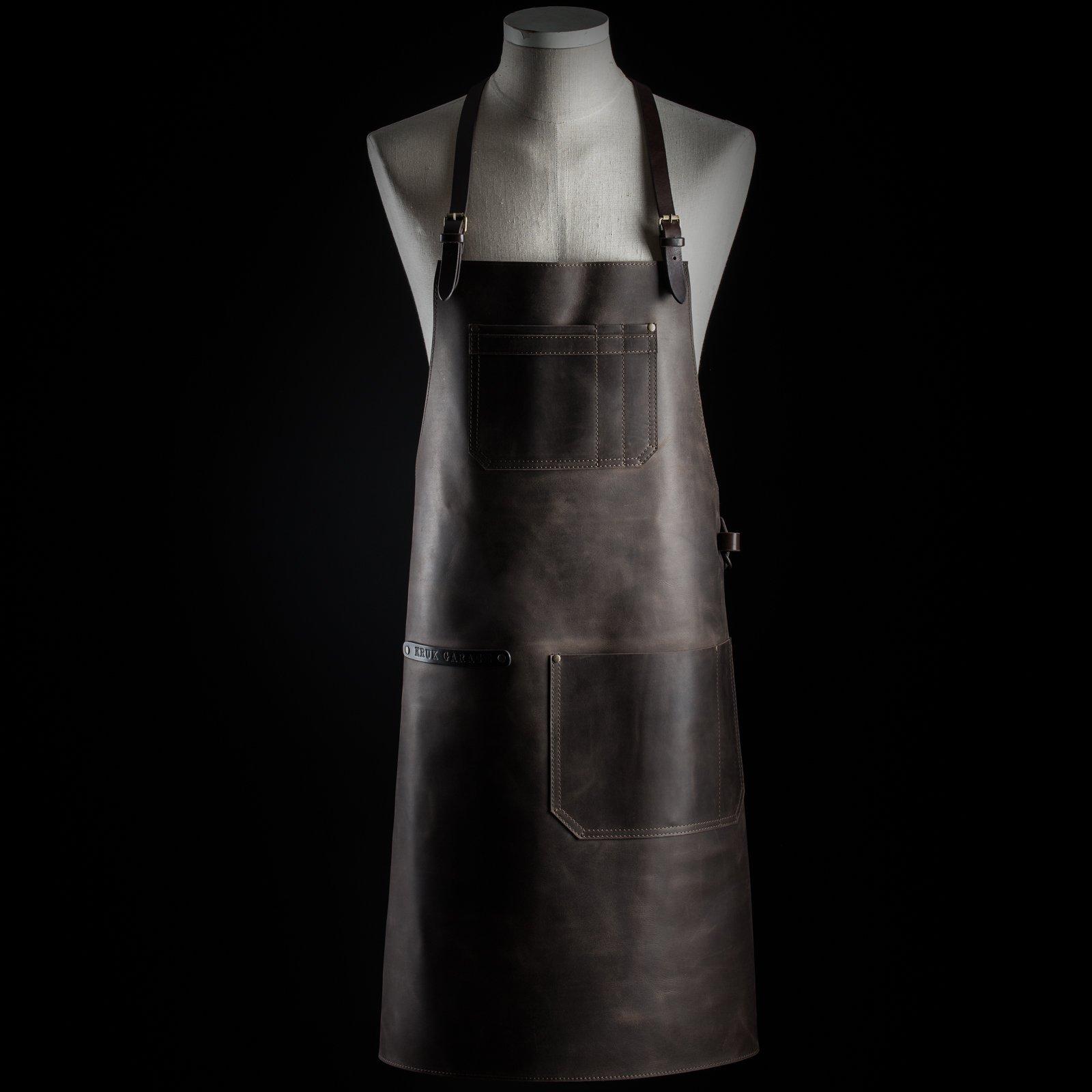 Bartender apron by Kruk Garage Barista apron Leather apron Barbers apron Unisex apron Chef apron Men gift Birthday gift FREE PERSONALIZATION
