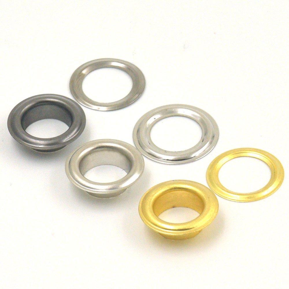 Nickel Grommets Eyelets 3mm 1/8' For Clothes Self Backing 300 sets hanhanlop