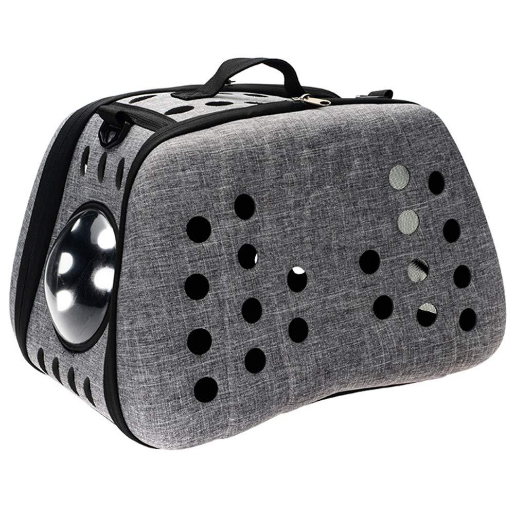 XDYFF Pet Travel Carrier Lightweight Eva Portable Cross pet Suitcase Hollow Portable Breathable cat Bag Foldable Puppy Carrier Bag