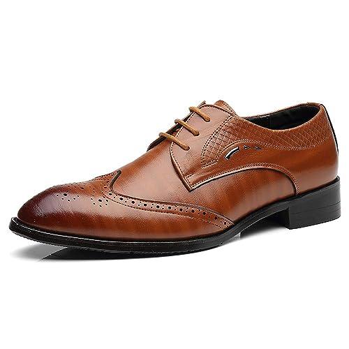 Mocasines con Borla Hombre, Zapatos de Cuero Borla Clásica Brogue Formales Calzados Informales: Amazon.es: Zapatos y complementos