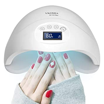Lamp Lamp48W Gel Led Auto Nail Nail Led Nail Led UV Light Light Gel Nails Lamp Pro for Lamp Lamp UV Nail Dryer Nail Curing Gel VKOSHA Smart Curing pSzMUV