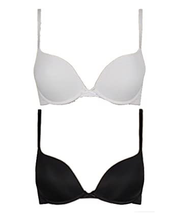 9814f86274 Marks   Spencer Cleavage Enhanced 2 Pack Padded Push-Up Underwired Plunge T- Shirt