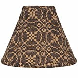 Home Collection by Raghu Marshfield Jacquard Black & Tan Lampshade, 10″ Review