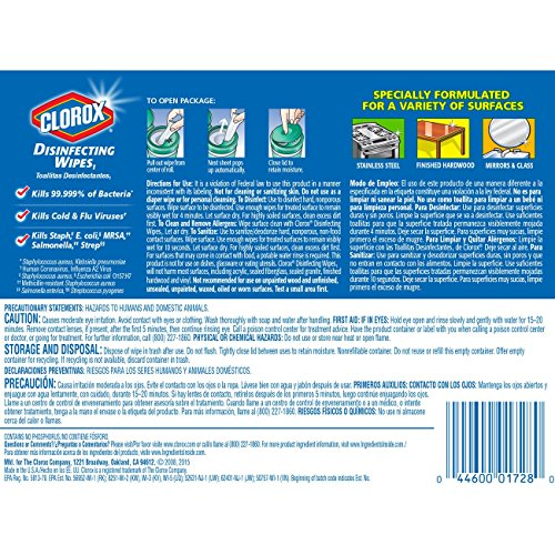 Clorox Disinfecting Wipes, Fresh Scent - 4 Pack - 105 Each